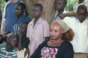 Sarah Asayo with orphaned children